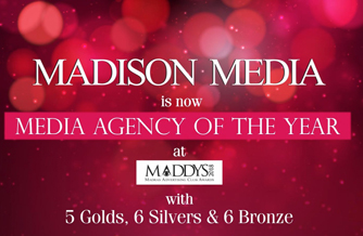 Madison Media is Agency of the Year at Maddies 2018