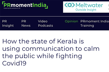 How the state of Kerala is using communication to calm the public while fighting Covid19
