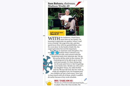 Sam Balsara featured in Mid-day