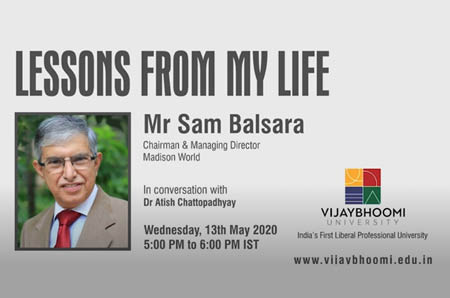 Sam Balsara in conversation with Dr. Atish Chattopadhyay
