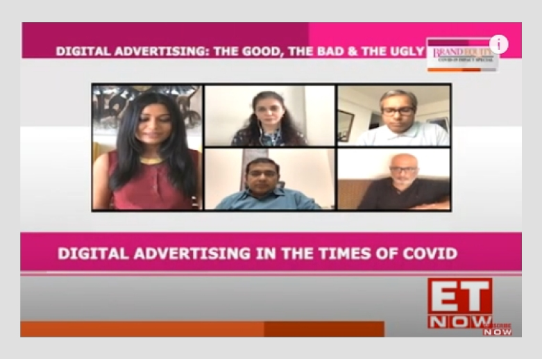 Vikram Sakhuja in a panel discussion on 'Digital Advertising: The good, the bad, the ugly